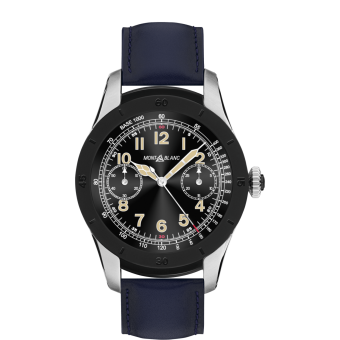 Montblanc Summit Smartwatch - Bi-color Steel Case with Navy Blue Leather Strap