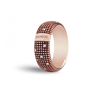 Pink gold and diamonds ring